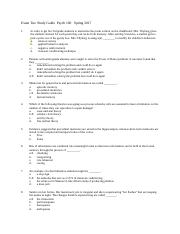 STUDY GUIDE ANSWERS.doc