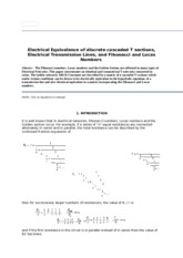 Electrical Equivalence of discrete cascaded T sections