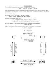 pH Calculations Practice
