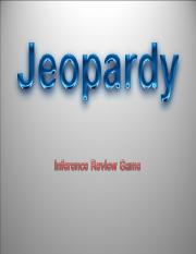 Inference - Jeopardy