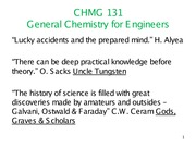 Gen Chemistry for Engineers lecture slide 1