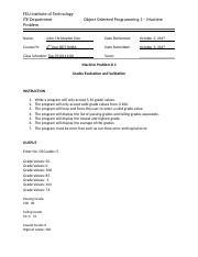Machine Problem 4 - Grades Evaluation and Validation.doc