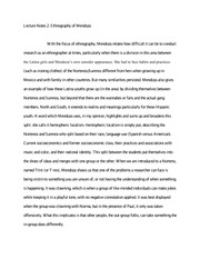 Lecture Notes 2 Ethnography of Mendoz
