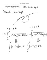 Arc Length and Curvature notes