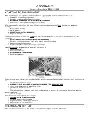 2.Regents.Geography.Answers