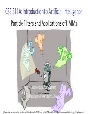 CSE511A Lecture 15 -- Particle Filters and Applications of HMMs