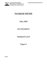 Economics SL paper 2-2005Answers