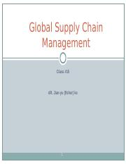 Class #15 Global supply chain.ppt