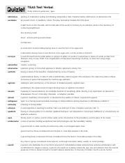 quizlet (23)cv - Practice Test 1 Science Secton 3 Teas
