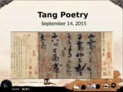Tang poetry