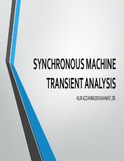 Topic 2 Synchronous Machine Transient Analysis (Updated)