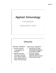 Unit 8 Applied Immunology