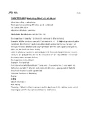 Complete Notes, BUAD301 Intro to Marketing