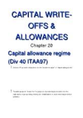 20 (Capital Write-Offs and Allowances)[1]