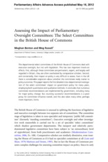 Assessing the impact of parliamentary oversight commitees