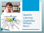 Student Project:  Specific Learning Disabilities