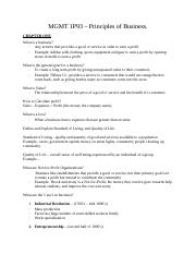 MGMT 1P93 - frist mid-term notes