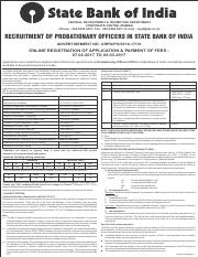 Notification-SBI-Probationary-Officer-Posts