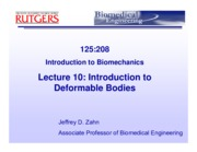 BME Lec 10 Intro Deformable Bodies