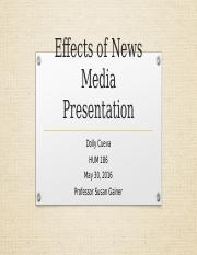 Effects of News Media Presentation