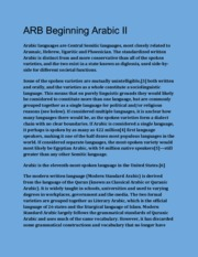 ARB 112 Beggining Arabic II (Language Customs)