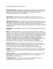Management of Business key Definitions.docx