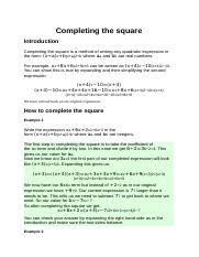 Completing the square.docx