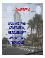Chapter 6 High Voltage Generation_ Measurement And Testing Technique-DC