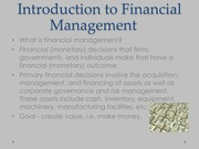 Introduction to Principals of Finance