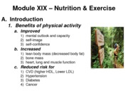 Module 19 - Nutrition & Exercise