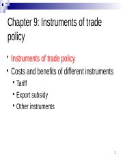 Chapter 9 Instruments of trade policy_HUBwise.pptx