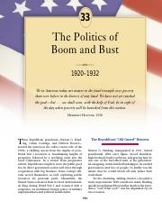 chapter 33 the politics of boom and bust