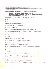 numerical solutions homework