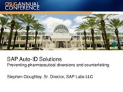 3501-SAP Auto-ID Solutions Preventing pharmaceutical diversions and counterfeiting