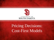 pricing decisions - cost-first models