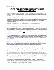 5 Tips For Entrepreneurs To Keep Moving Forward.docx