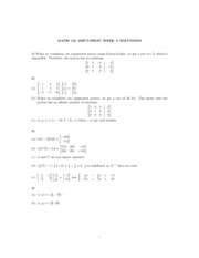 Math121 Discussion - 4th week answers
