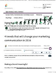4 trends that will change your marketing communication in 2016 - Smart Insights Digital Marketing Ad