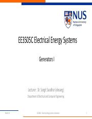 EE3505C Electrical Energy Systems Generators I-Summary_annotated
