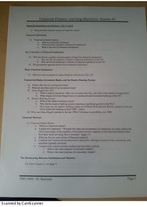Financial Institutions and Markets Learning Objectives worksheet