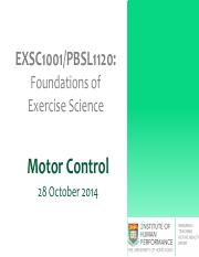 Lecture 4- Motor Control