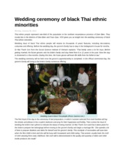Wedding ceremony of black Thai ethnic minorities