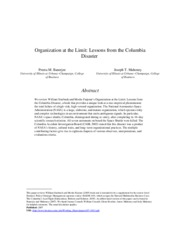 Organization at the limit- lessons from the columbia disaster.pdf
