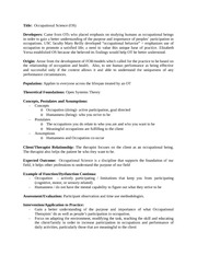 person environment occupation model pdf