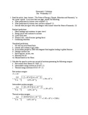 Homework Set 1 Solutions