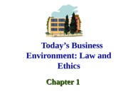 Ch. 1 Law and Ethics
