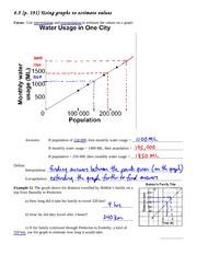 math 9 application of graphs notes