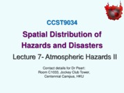 Lecture 7 Atmospheric Hazards II_Spatial Distributions  Temperature Extremes