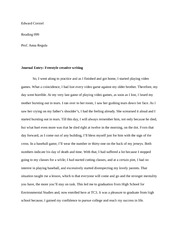 Journal Entry Free write:  Journal Entry: Freestyle creative writing