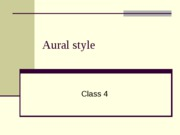 aural style ppt